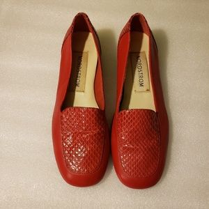 nordstrom's red nordstrom genuine leather shoes